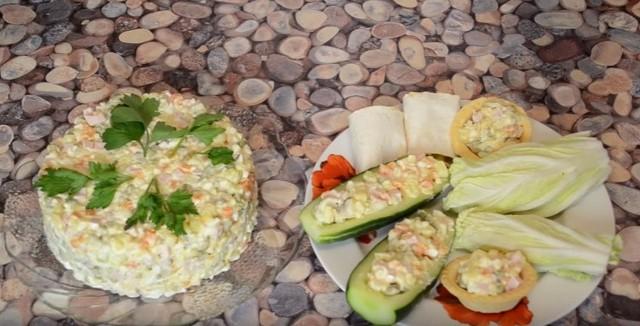 Салат оливье — Праздничные классические рецепты очень вкусных салатов к Новому году