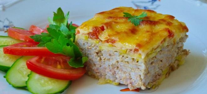 Запеканка из кабачков с фаршем в духовке — рецепты с помидорами, сыром, картошкой и рисом