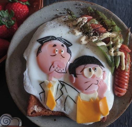 Обычная яичница в необычном исполнении: хорошее настроение на весь день обеспечено