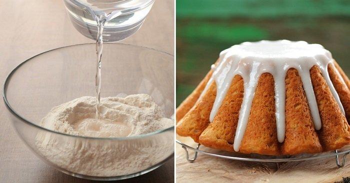 Как испечь кекс на воде