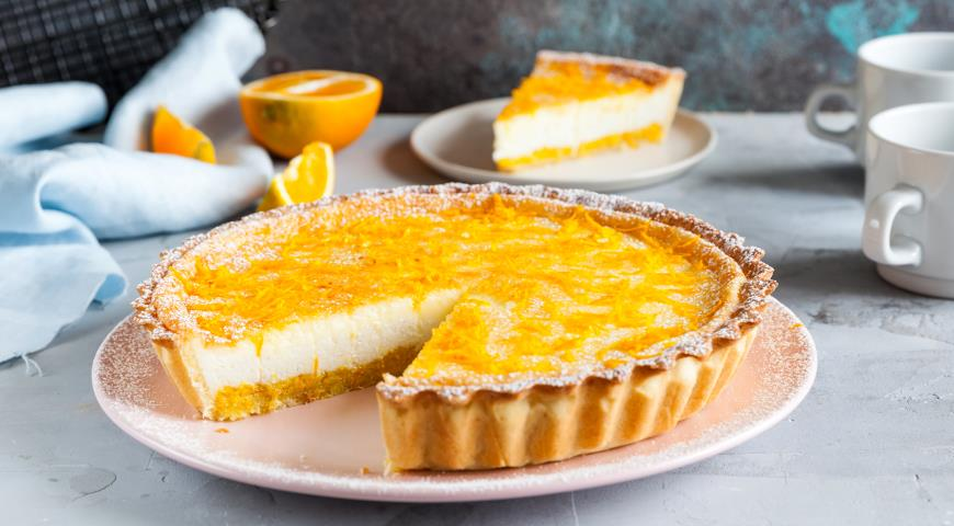 Пирог с апельсиново-творожной начинкой