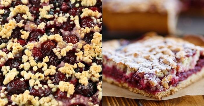 Тертый пирог для ленивых прелестниц: вишневая начинка и песочное тесто. Достойное украшение домашнего чаепития.