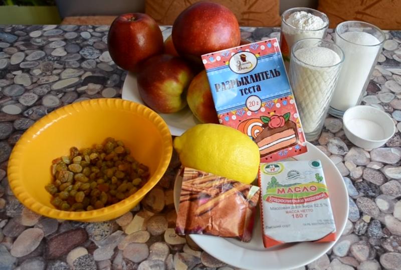 Рецепт насыпного яблочного пирога «Три стакана» без молока и яиц