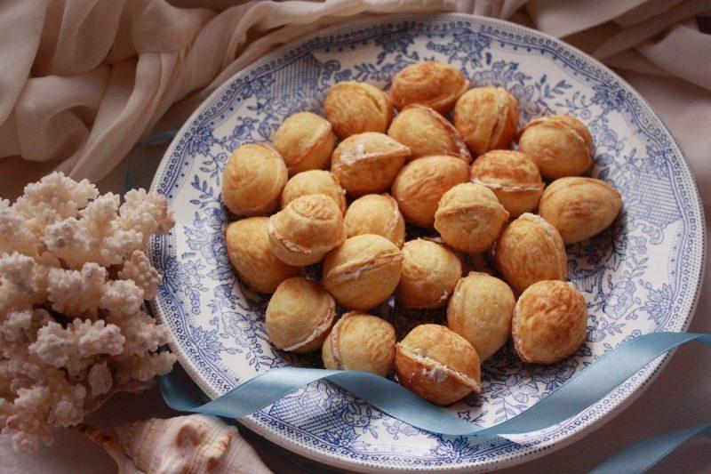 Тесто на орешки — 7 рецептов, как сделать тесто для печенья орешки