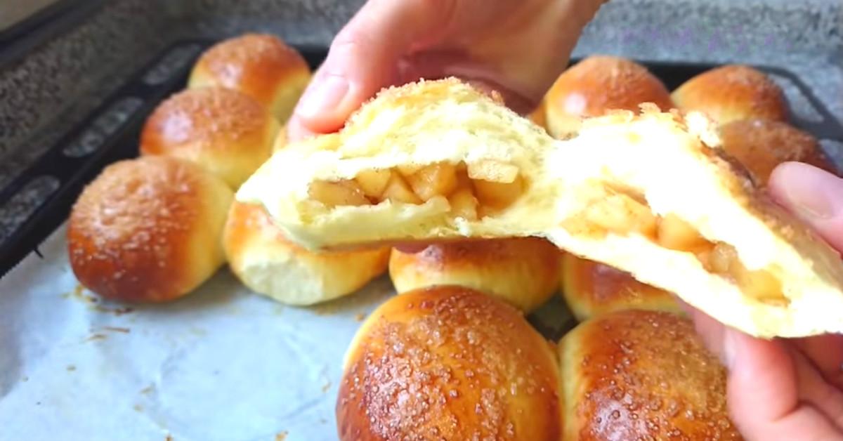 Бабушкин рецепт булочек с яблоками, вкус которых запомнила на всю жизнь