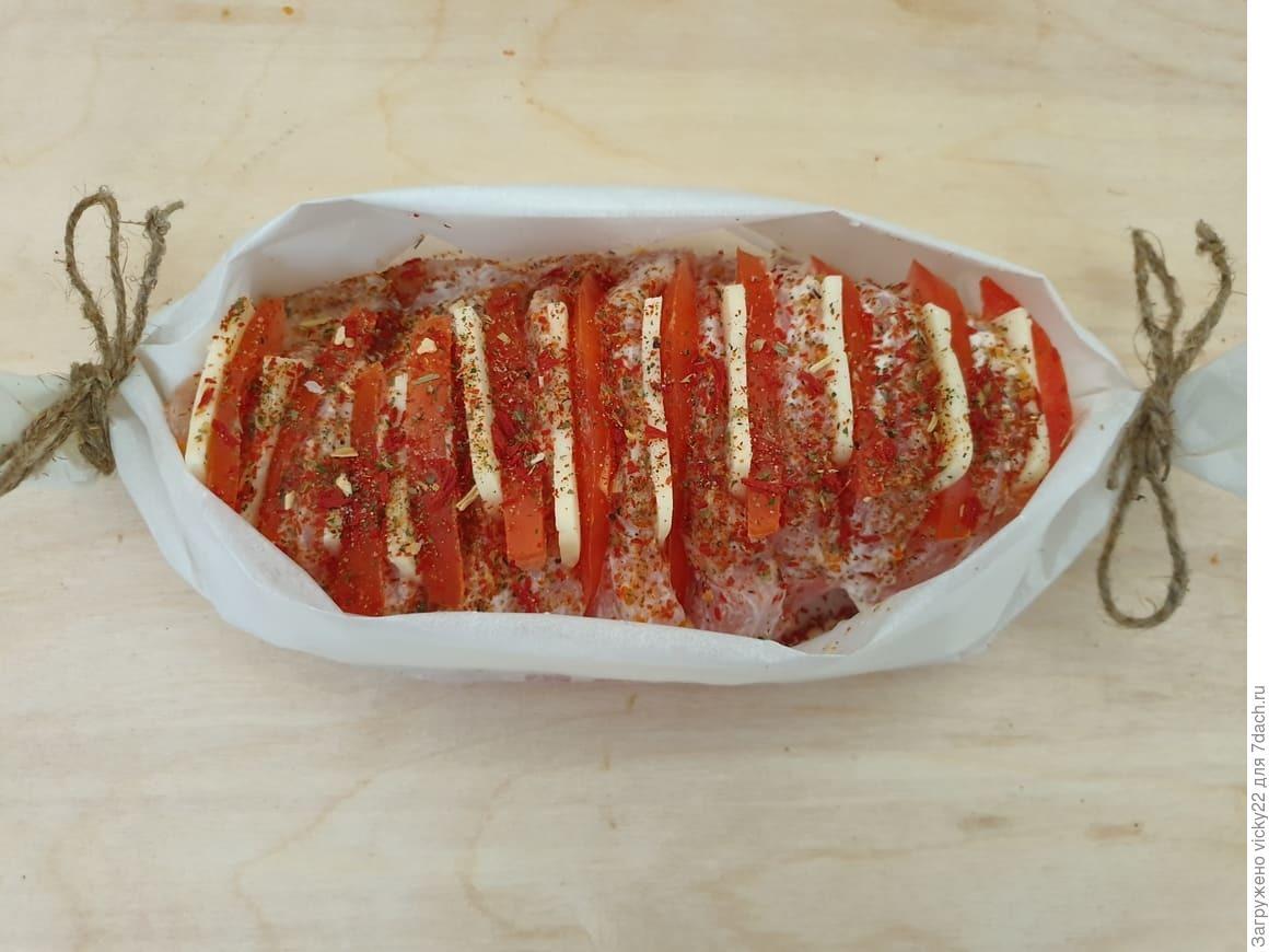 Куриное филе в стиле «Капрезе»