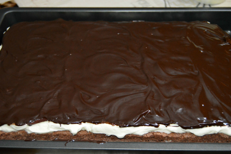 Шоколадный бисквитный торт на одном корже: удовольствие и от приготовления, и от дегустации!