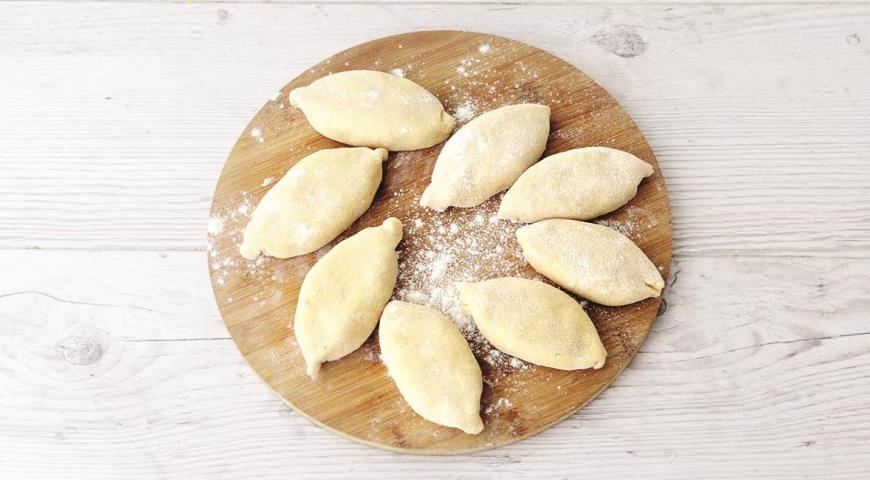 Пирожки с рисом и горбушей из настоящего творожного теста, двойная нежность!