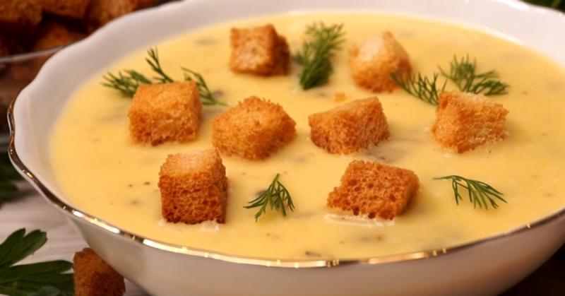 Отменный грибной крем-суп со сливками с ярко выраженным ароматом и нежной текстурой